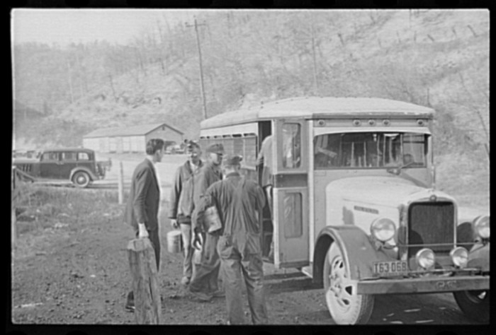10. Coal miners heading to work the pit in Jenkins, 1937