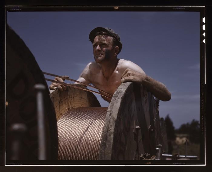 15. Construction at Fort Knox, 1942.