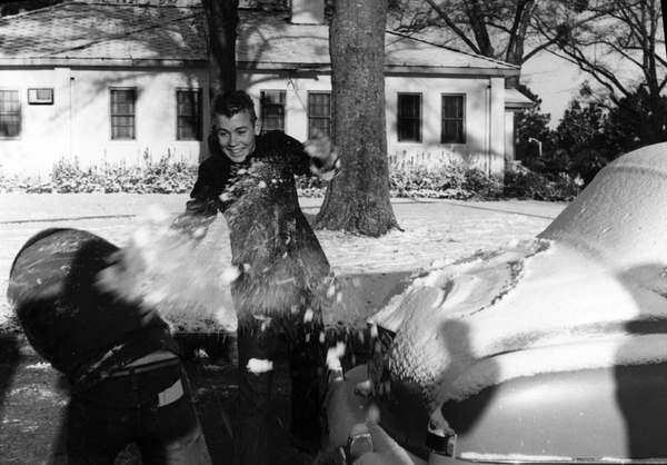 Boys having a snowball fight at the Florida School for Boys in Marianna, Florida