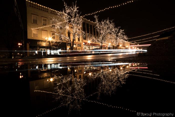 3. Christmas lights in Bloomington