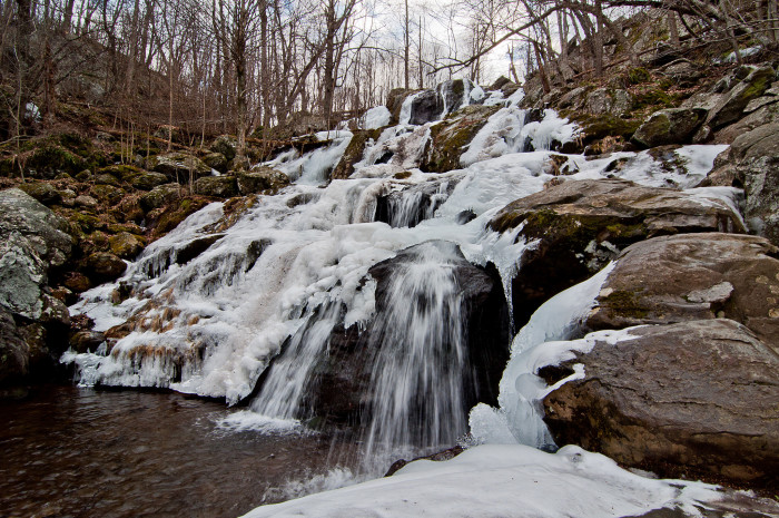 2. Dark Hollow Falls in the Shenandoah National Forest near Big Meadows.