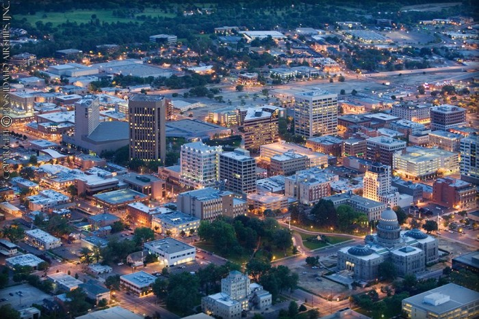 17) Downtown Boise at Night