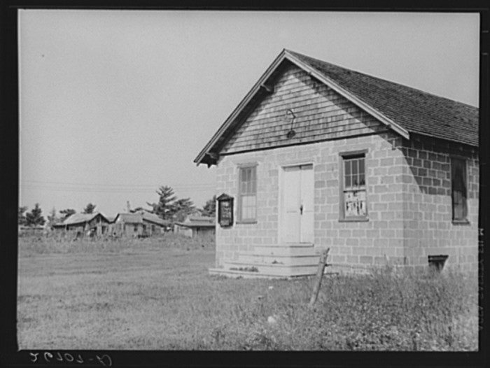 """18. Church at """"Eighty Acres"""" agricultural development in Glassboro."""