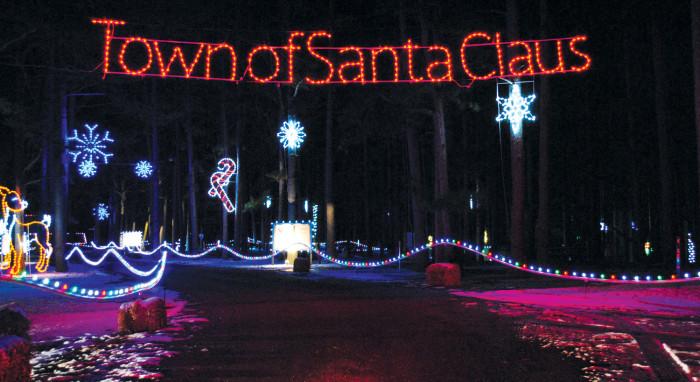Santa Claus Indiana Christmas Lights
