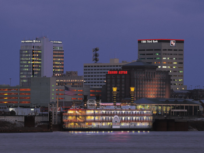 6. Evansville is another great city to go to if you want to see a pretty skyline.