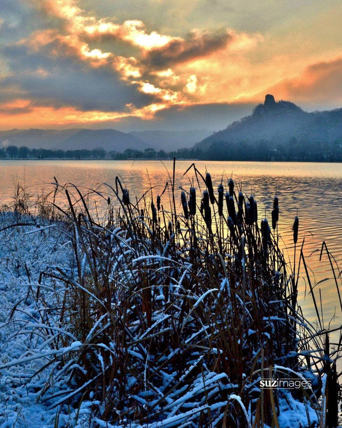 24. Susie Loechler captured this stunning photo of MN's first snowfall with Sugarloaf in the background.