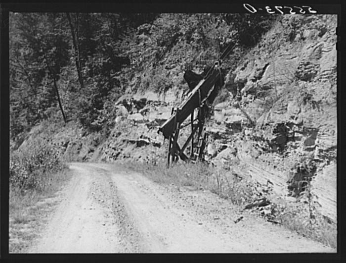 12. Families raise their own coal up Morris Fork, 1940.