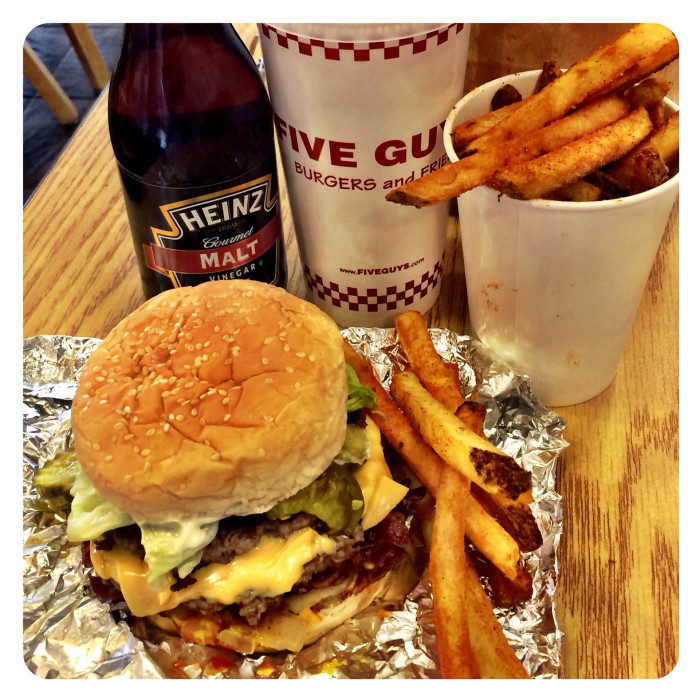 7. Turning down a 5 Guys Burger and Fries.
