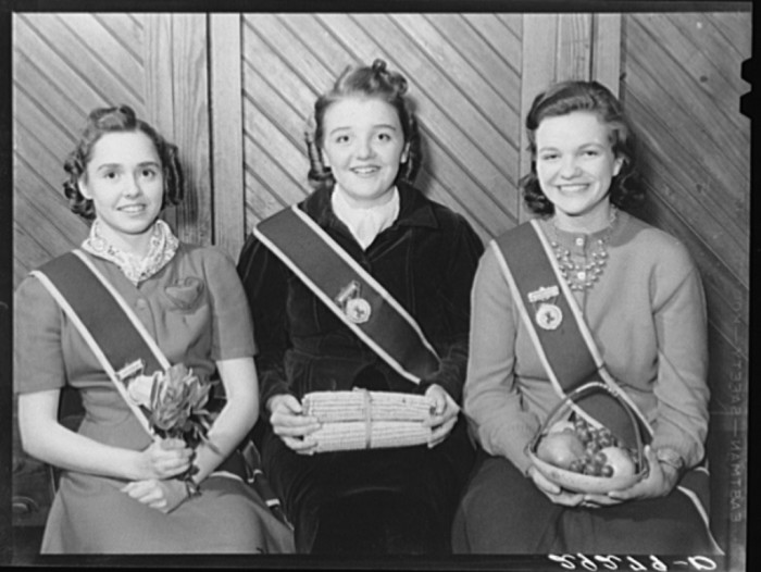 29. Three young Grange members represent Flora, Ceres and Pamona in Fairfax, 1940.