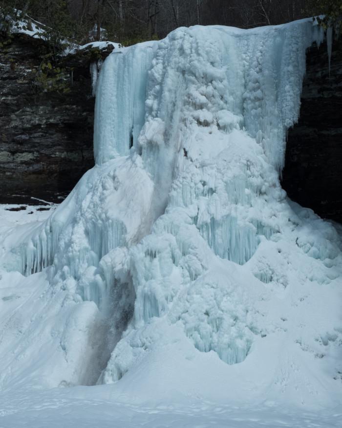7. Find a frozen waterfall.