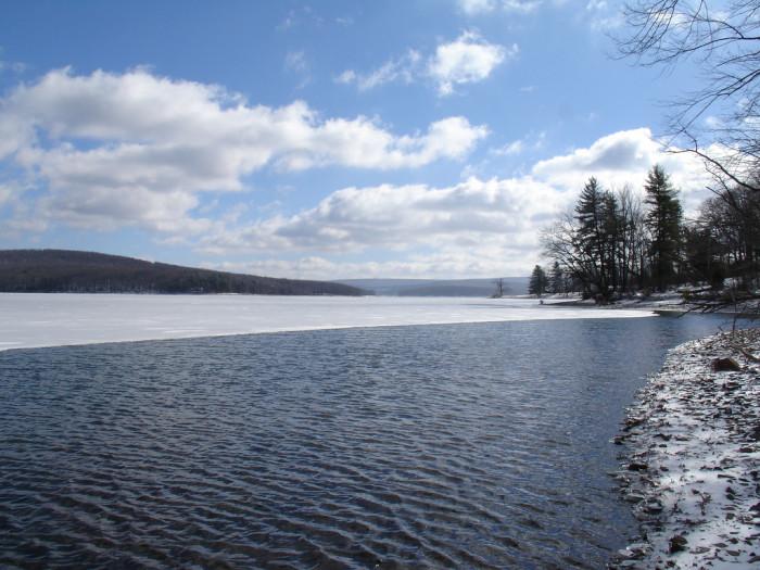 12) Partially frozen Deep Creek Lake. Stunning.
