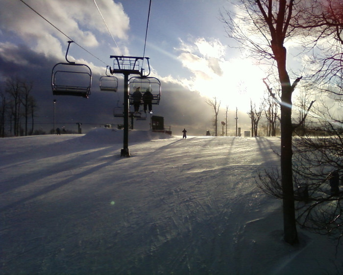 3) The powdery slopes at Wisp Resort are quiet and tranquil.