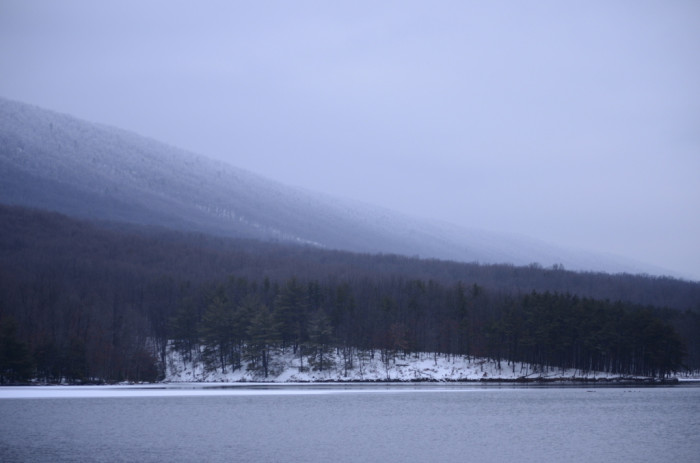 4) A peaceful fog over the mountains at Rocky Gap.