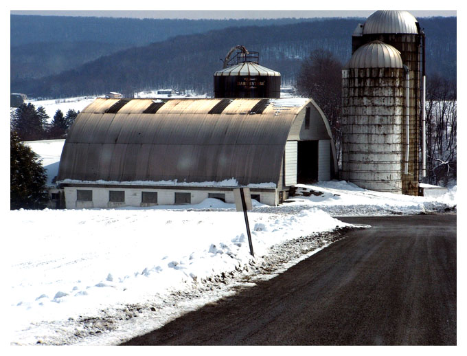 6) This Pleasant Valley farm is so serene in the winter.