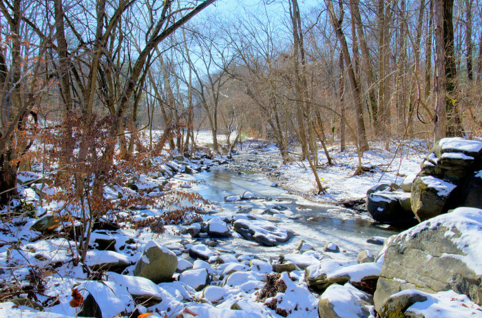 7) Little Falls Creek with a fresh coat of snow.