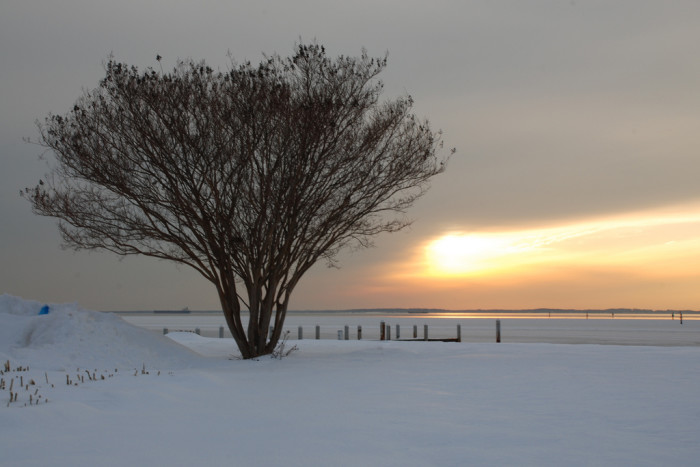 9) Although a popular destination in the summer, The Chesapeake Bay has gorgeous sites year round.