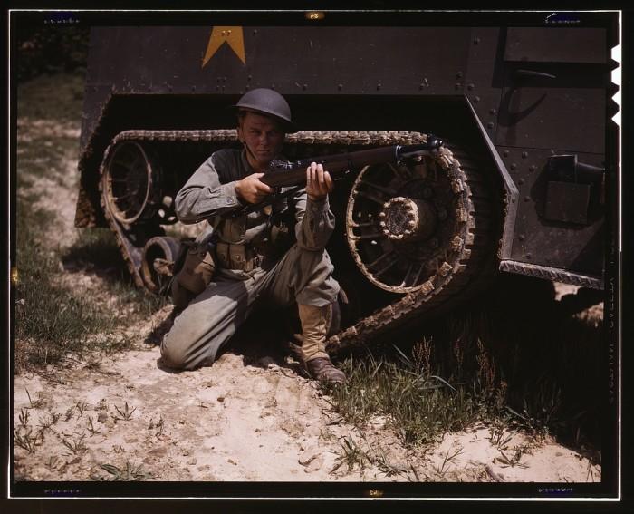 13. Garand rifle, 1942.