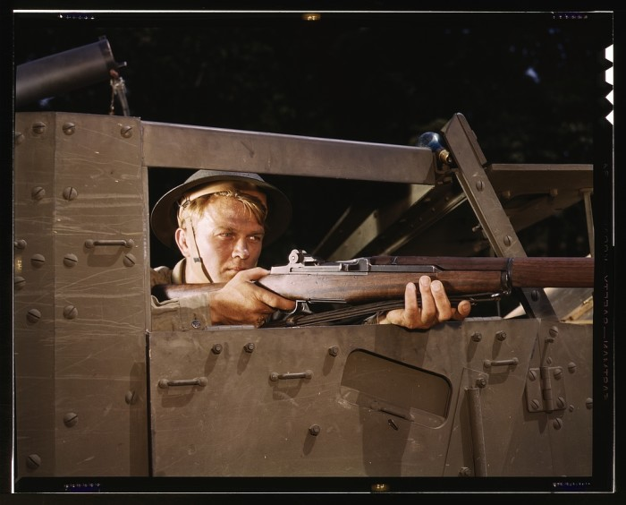 12. Halftrack infantryman.
