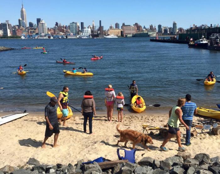 12. Enjoy FREE kayaking on the Hudson at Hoboken Cove.