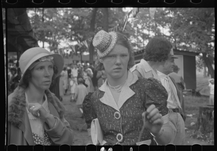 16. Look at the fashions these women are wearing at a Fourth of July celebration at Terra Alta.