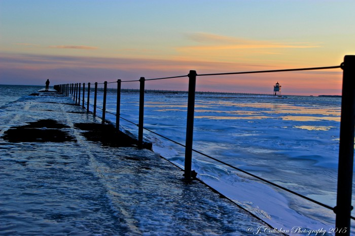 3. A popular North Shore destination, Two Harbors is brilliant on an icy day.