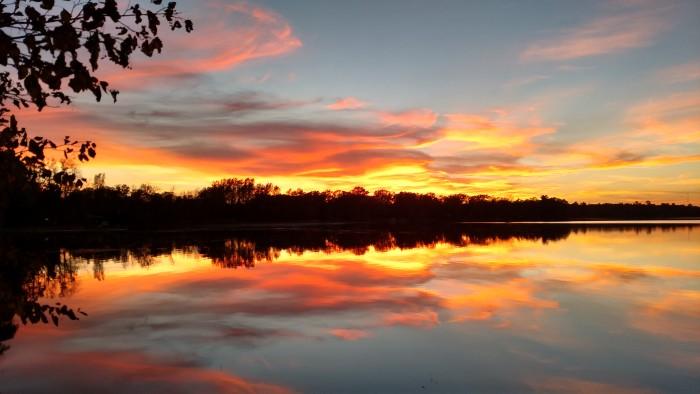 15. Becky Miller caught a stunning October sunset near Garrison.