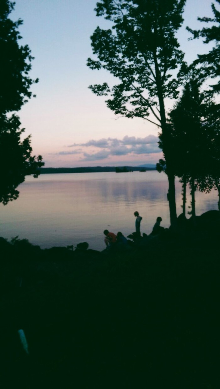 26. Sunsets in Rangeley bring out the curious child in all of us.