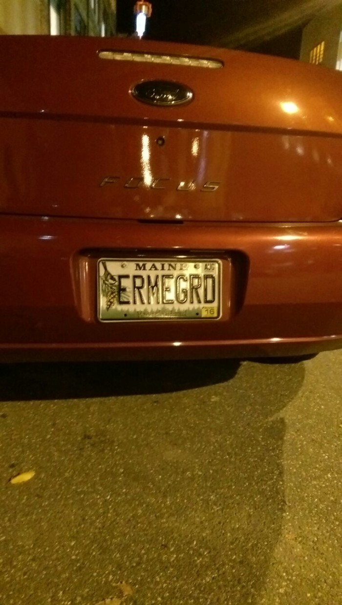 11. You've used your license plate to convey the way you feel most of the time.
