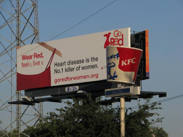 7. KFC helps fight heart disease.