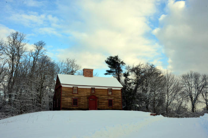 14. The Captain William Smith House in Lincoln seems built for snowy days.