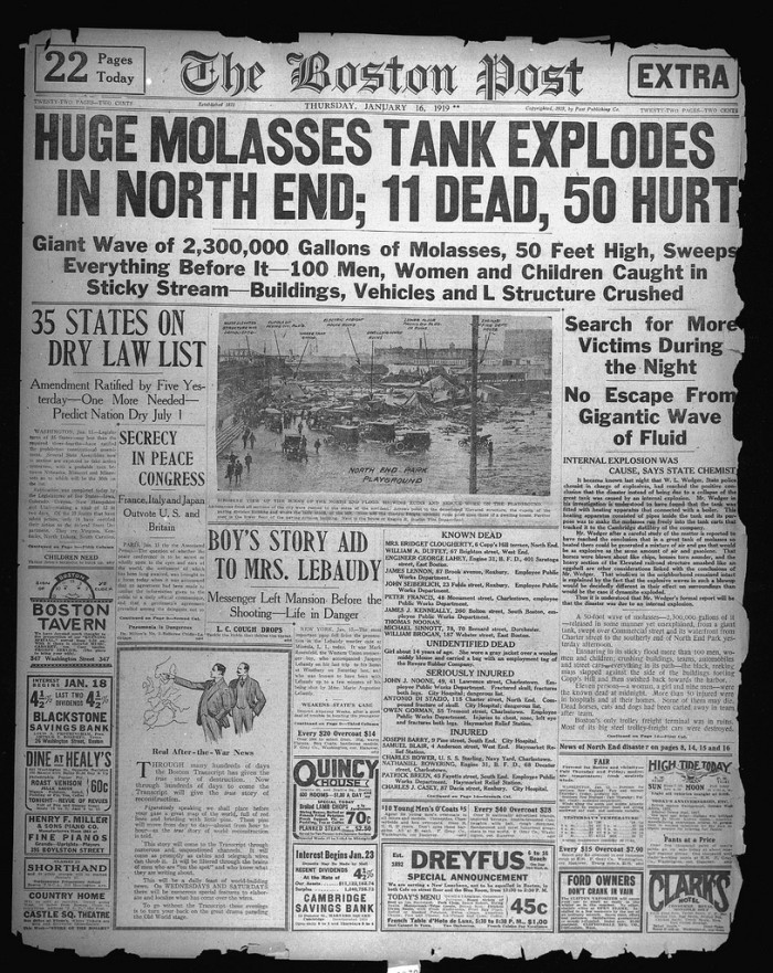 6. The anniversary of a catastrophic molasses disaster