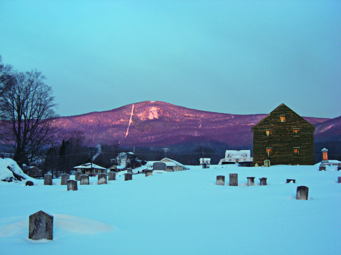 7. A wintery Mount Greylock blushes for the camera.