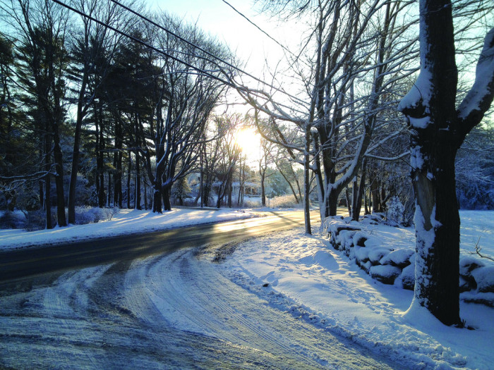 17. In Massachusetts, sometimes just pulling out of your driveway makes for a jaw dropping wintertime moment.