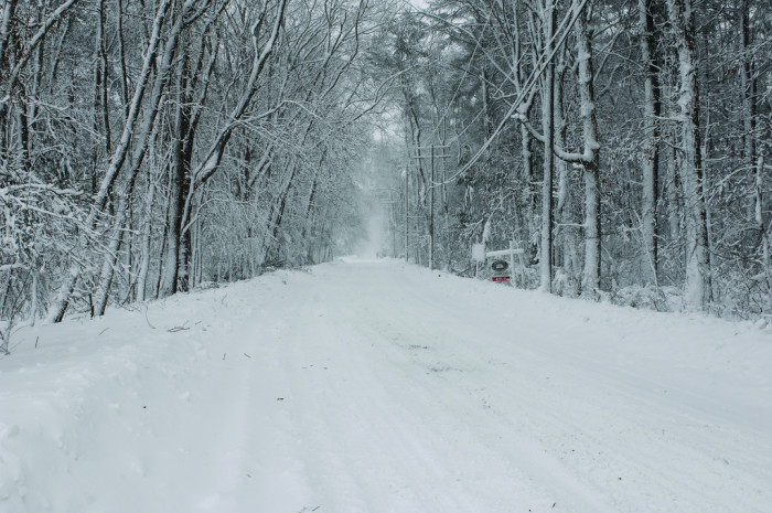 6. A snowy street in Marshfield. You can almost hear the sleigh bells.