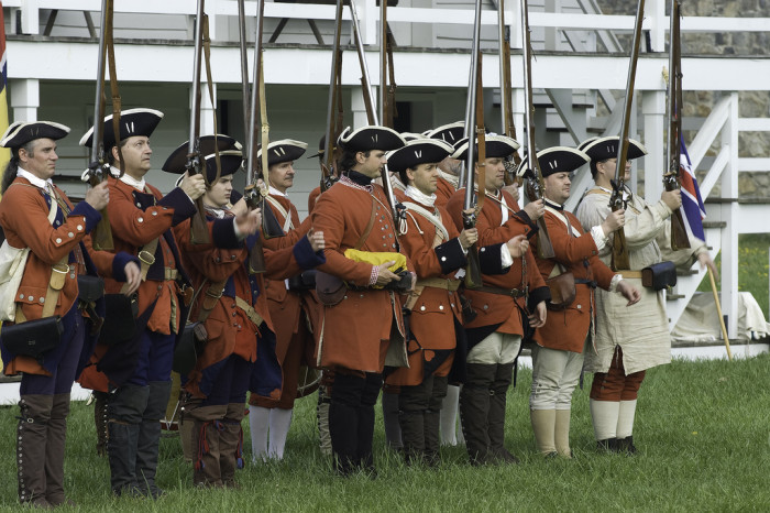 17) They've been to a war reenactment.