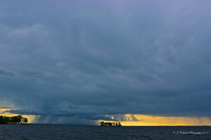 6. Jake Callahan took a stunning shot of a storm over Mille Lacs.