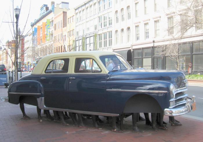 8. Modern day Flintstone's car.
