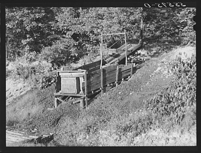 9. Morris Fork coal shaft, 1940.