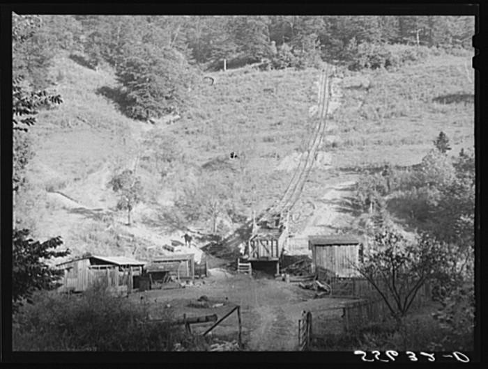 6. Mountaineers raise coal near Buckhorn, 1940.