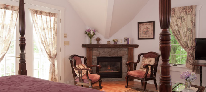 10. Curl up by the fireplace at a charming B&B.