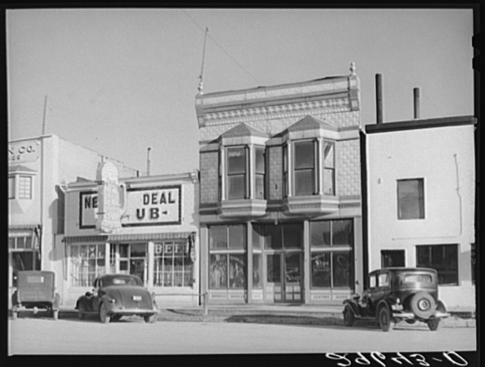 "11. ""Stores on main street. Elko, Nevada."""