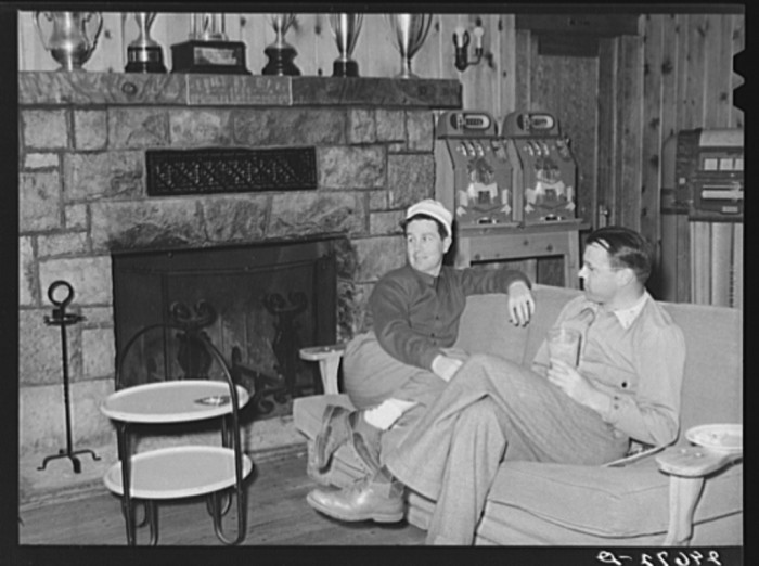 "14. ""Golfers in club house. Reno, Nevada."""