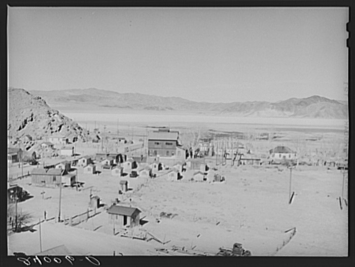 1. A group of miners' houses in Silver Peak, Nevada - 1940.