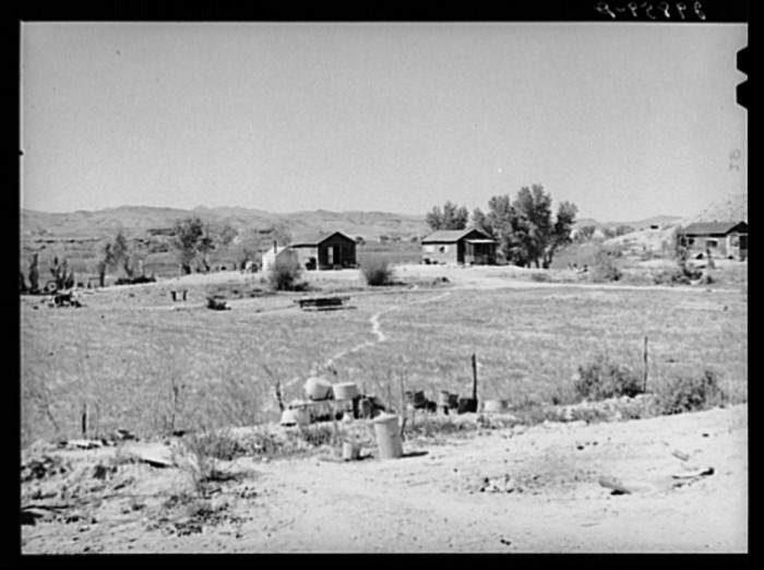 9. A trio of homes located on the Moapa Indian Reservation in Clark County, Nevada - 1940.