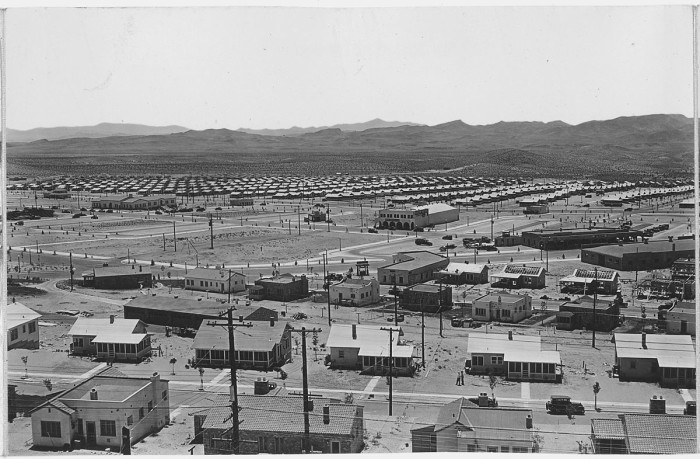 4. A panorama view of Boulder City, Nevada from Water Tank Hill. This photo was also taken a few years prior to the 1940s. (ca.1932)