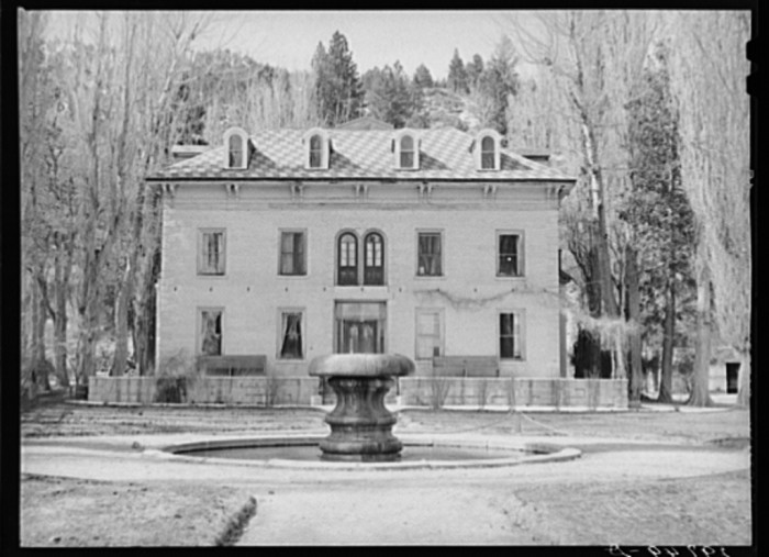 8. Bowers Mansion in Washoe Valley, Nevada - 1940.
