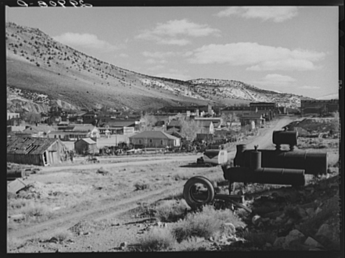 7. Eureka, Nevada - This ghost mining town once produced more than eighty million dollars in gold, silver and load.