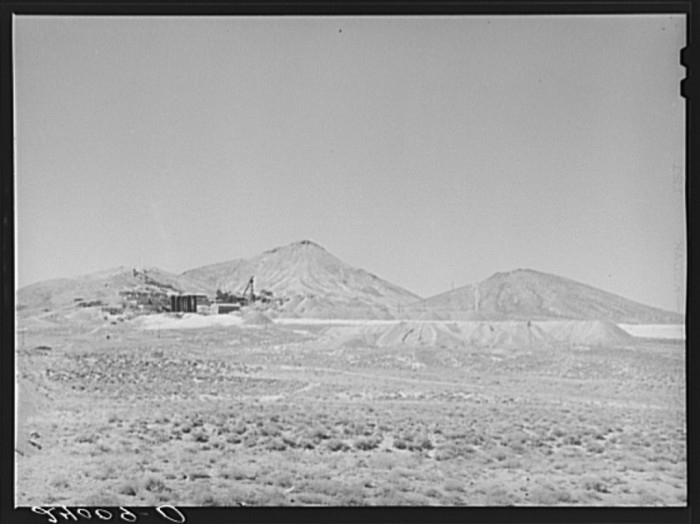 10. An abandoned mine and mill in Tonopah, Nevada.