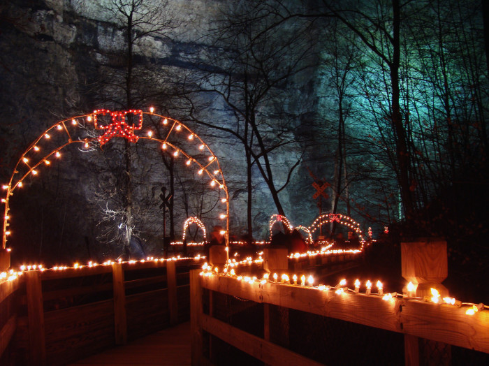 5. Natural Tunnel Holiday Lighting of the Tunnel, Duffield