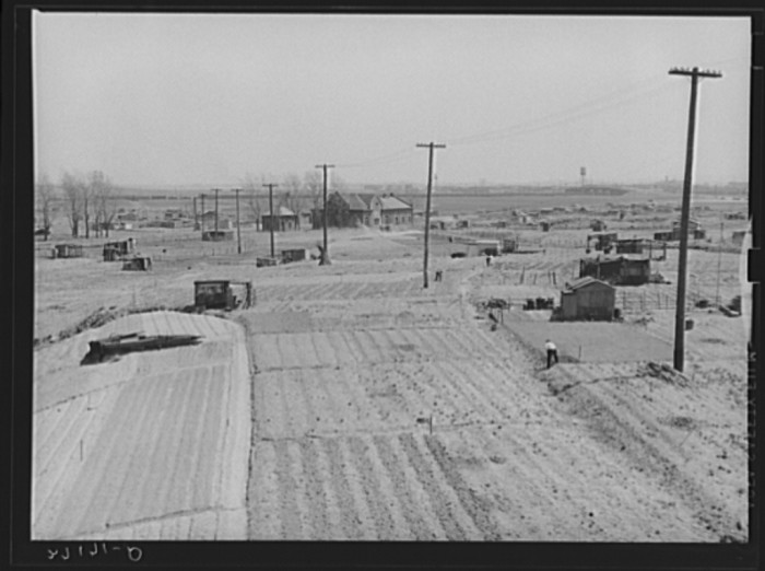 """4. A squatters camp, also in Newark, taken in 1939.  Called """"Jersey Meadows,"""" the land was located on a city dump."""